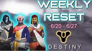 Destiny Weekly Vendor Reset ???? GODLY SNIPER, PULSE RIFLE & HAND CANNONS ???? Best New Weapons 6-20